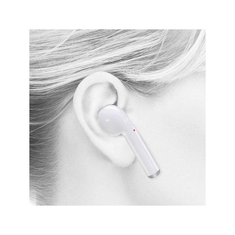 Ασύρματα Ακουστικά Bluetooth με Βάση Φόρτισης (Λευκό χρώμα) 7